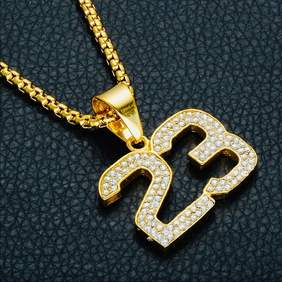 Michael Jordan Number Diamond Chain